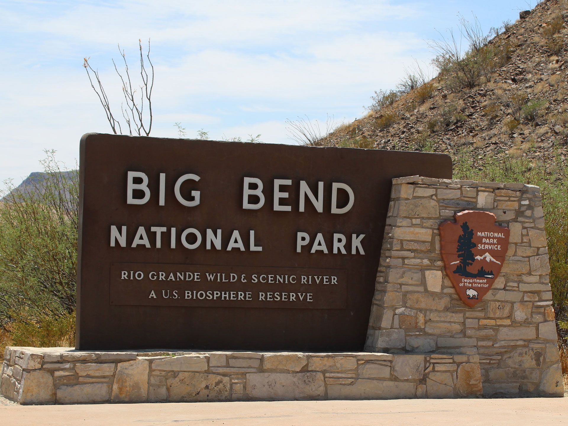 Big Bend National Park Entrance Sign Ten Bits Ranch